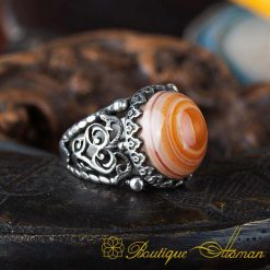 Real Sulemani Aqeeq Gemstone Ring SL0017-1