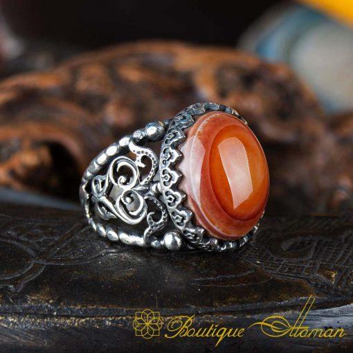 Real Sulemani Aqeeq Gemstone Ring SL0018-1