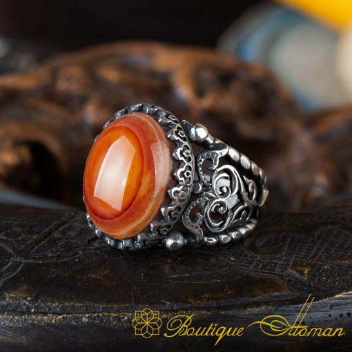Real Sulemani Aqeeq Gemstone Ring SL0018-3
