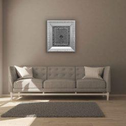 Al Asma Ul Husna Islamic Silver Wall Art-1