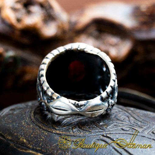 Handmade Ruby Silver Men Ring