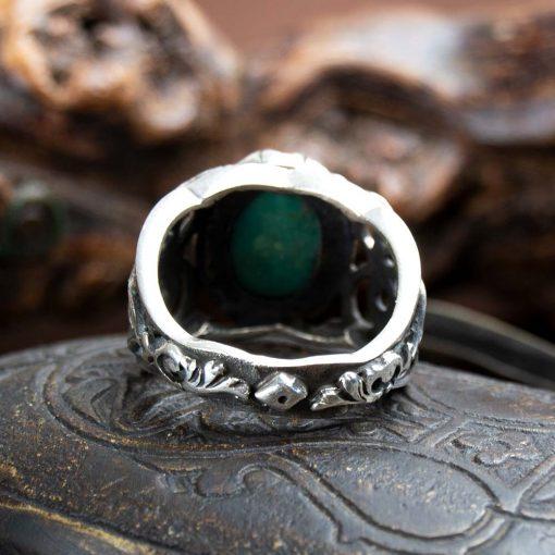 Rare Feroza Hand Engraved Men Ring