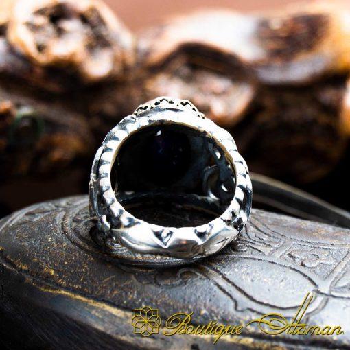 Sapphire Handcraft Silver Men Ring