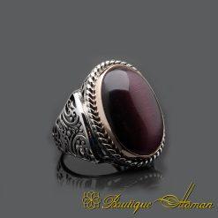 Cat's Eye Handmade Silver Men Ring