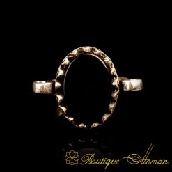 Black Aqeeq Hand Made Simple Women Ring