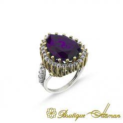 Hurrem Sultan Amethyst Ring